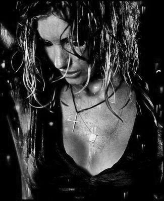 Faith Hill black and white poster