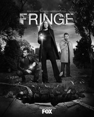 Fringe black and white poster