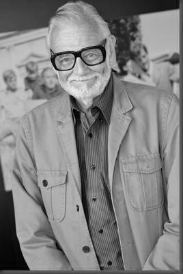 George Romero black and white poster