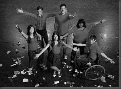 Glee black and white poster