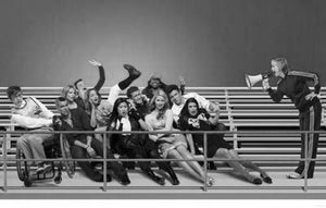 "Glee Poster Black and White Mini Poster 11""x17"""