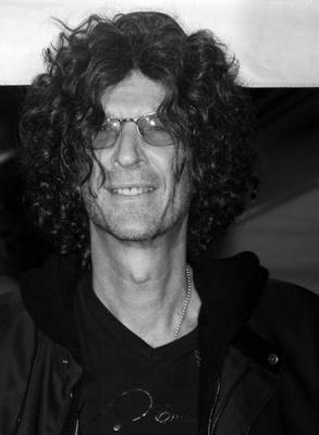 Howard Stern black and white poster