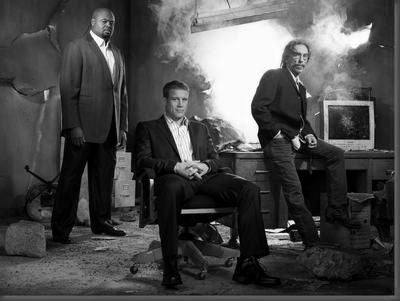 Human Target Cast Poster Black and White Mini Poster 11