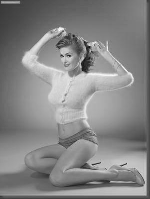 Isla Fisher black and white poster