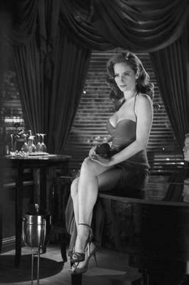 Jaime Ray Newman black and white poster