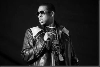 Jay Z black and white poster