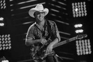 Justin Moore black and white poster