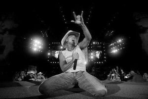 Kenny Chesney black and white poster