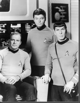 Star Trek black and white poster