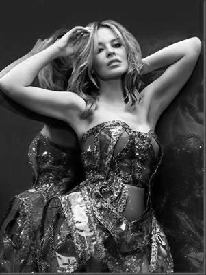 Kylie Minogue black and white poster