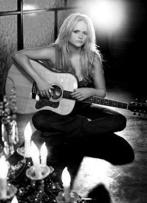 Miranda Lambert black and white poster
