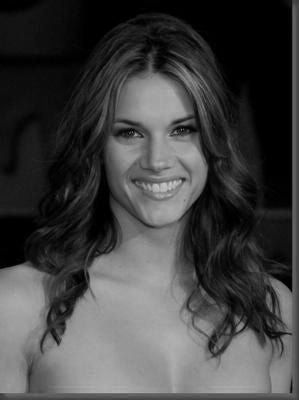 Missy Peregrym black and white poster
