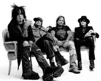 Motley Crue Poster Black and White Mini Poster 11
