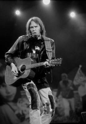 Neil Young black and white poster