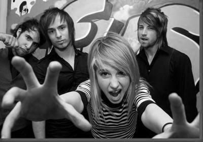 Paramore black and white poster
