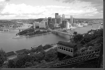 Pittsburgh Skyline black and white poster