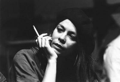 Rickie Lee Jones black and white poster