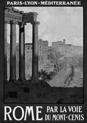 Rome Travel black and white poster