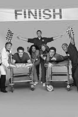 Scrubs black and white poster