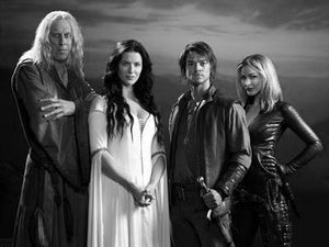 Legend Of The Seeker black and white poster