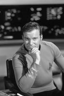William Shatner black and white poster