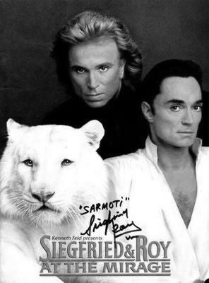Siegfried And Roy black and white poster