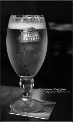 Stella Artois black and white poster