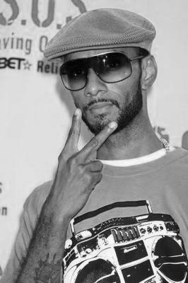 Swizz Beatz black and white poster