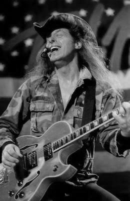 Ted Nugent black and white poster