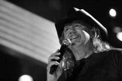 Trace Adkins black and white poster