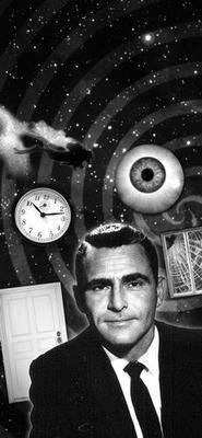 Twilight Zone black and white poster
