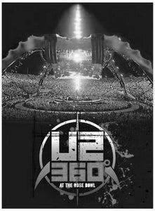"U2 Poster Black and White Mini Poster 11""x17"""