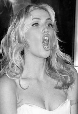 Willa Ford black and white poster