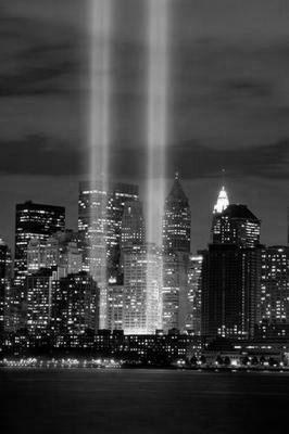 Twin Towers Tribute Lights WTC poster tin sign Wall Art
