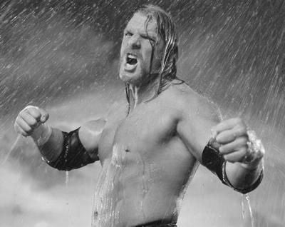 Wwe Triple H Poster Black and White Mini Poster 11