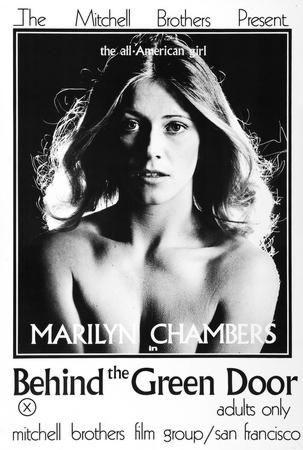 Marilyn Chambers black and white poster