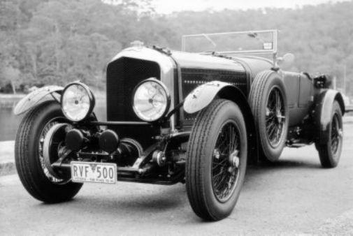 Bentley 1929 black and white poster