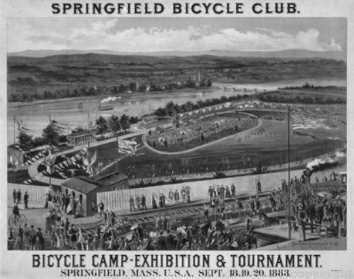 Bicycle Camp 1883 black and white poster