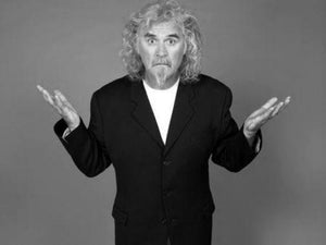 Billy Connolly black and white poster