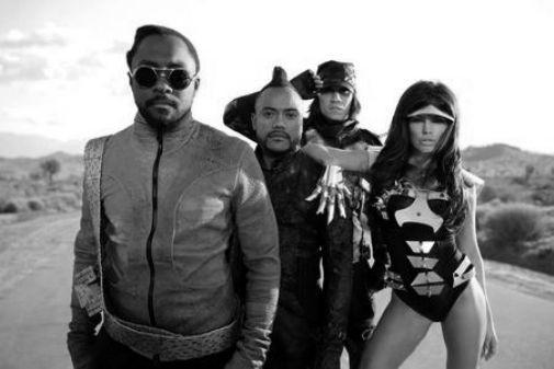 Black Eyed Peas black and white poster