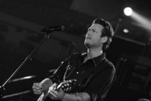 Blake Shelton black and white poster