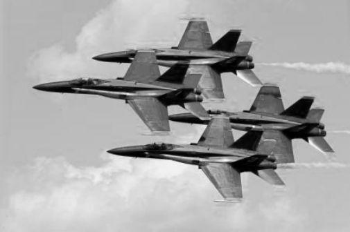 Blue Angels black and white poster