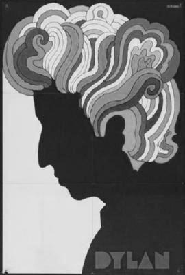 Bob Dylan black and white poster