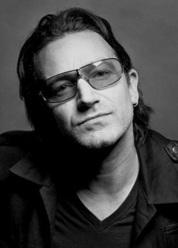 Bono Poster Black and White Mini Poster 11
