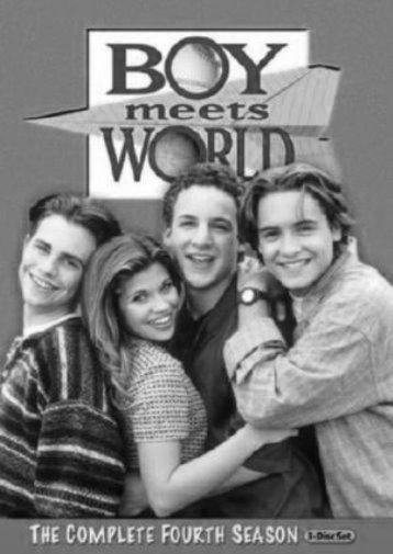 Boy Meets World Tv black and white poster