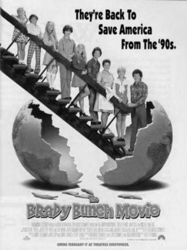 Brady Bunch black and white poster