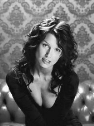 Bridget Moynahan black and white poster
