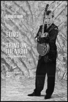 Bring On The Night black and white poster