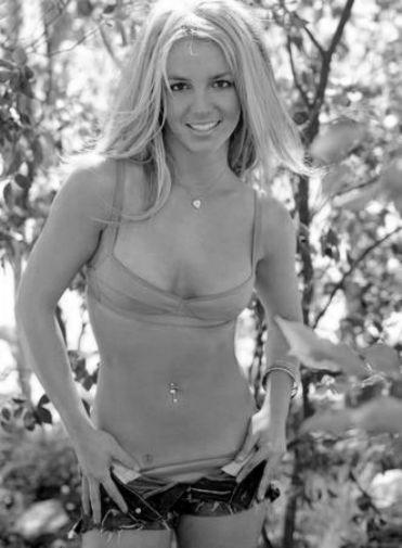 Britney Spears black and white poster