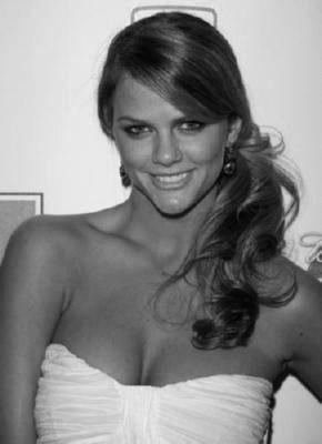 Brooklyn Decker black and white poster